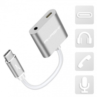 Adaptateur USB-C / Audio 3.5mm + Charge USB-C Akashi