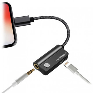 Adaptateur Lightning - Audio 3.5mm + Charge Akashi