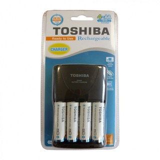 Piles Rechargeables AA 1950mAh + Chargeur Toshiba