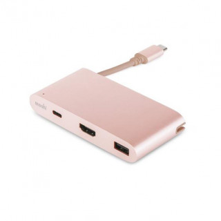 Adaptateur Multiports USB-C Moshi Or Rose