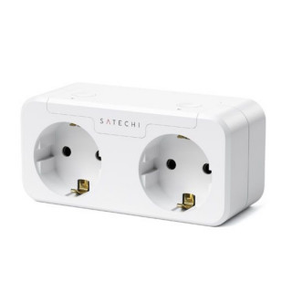 Prise Double Homekit Satechi Dual Smart Outlet Blanche