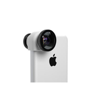 Objectif Photo 3-en-1 iPhone 5C Olloclip Blanc/Noir
