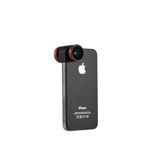 Objectif Photo 4-en-1 iPhone 4/4S Olloclip Rouge/Noir
