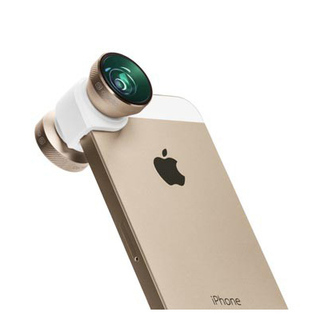 Objectif Photo 4-en-1 iPhone 5/5S/SE Olloclip Blanc/Or