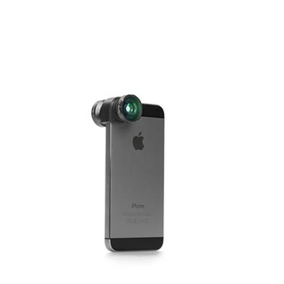 Objectif Photo 4-en-1 iPhone 5/5S/SE Olloclip Gris/Noir