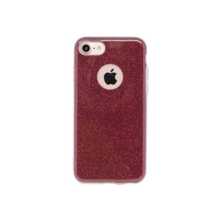 Coque Apple iPhone 7/8 Aiino Glitter Case Rouge