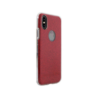Coque Apple iPhone XS/X Aiino Glitter Case Rouge