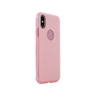 Coque Apple iPhone XS/X Aiino Glitter Case Rose
