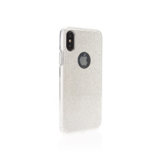 Coque Apple iPhone XS/X Aiino Glitter Case Argent