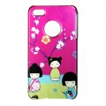 "Coque Akashi Apple iPhone 4 / 4S ""Poupées japonaises"" + protection écran"