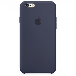 Coque iPhone 6/6s Silicone Apple Bleu Nuit