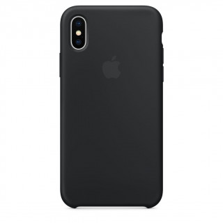 Coque iPhone XS/X Silicone Apple  Noir