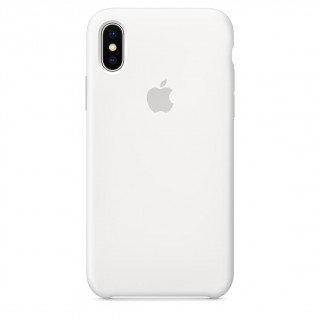 Coque iPhone XS/X Silicone Apple  Blanc