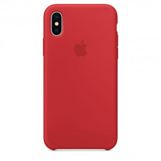Coque iPhone XS/X Silicone Apple Rouge (Red)