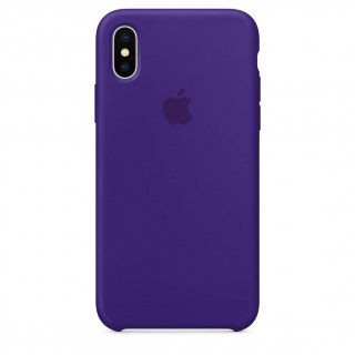 Coque iPhone X Silicone Apple  Violet