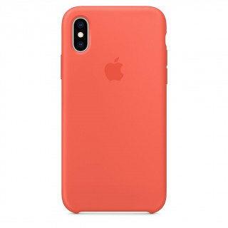 Coque iPhone XS/X Silicone Apple  Spicy Orange