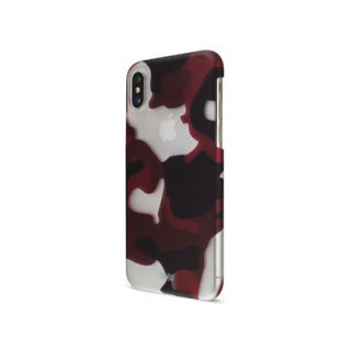 Coque iPhone XR Artwizz Rubber Clip Camouflage Rouge