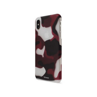 Coque iPhone XS Max Artwizz Rubber Clip Camouflage Rouge