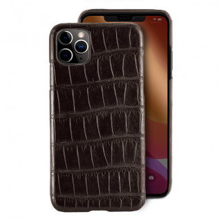 Coque Alligator Véritable iPhone 11 Pro Marron Foncé