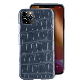Coque Alligator Véritable iPhone 11 Pro Max Bleu Jean