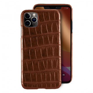 Coque Alligator Véritable iPhone 11 Pro Max Marron