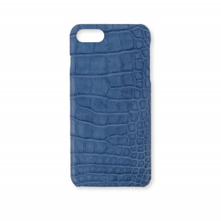 Coque Alligator Véritable iPhone 7/8 Bleu Jean