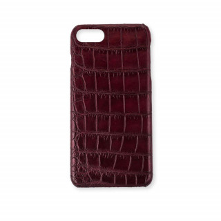 Coque Alligator Véritable iPhone 7/8 Lie de Vin