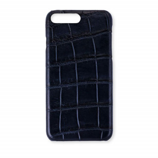 Coque Alligator Véritable iPhone 7 Plus/8 Plus Bleu Marine