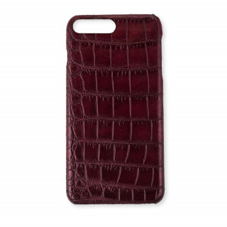 Coque Alligator Véritable iPhone 7 Plus/8 Plus Lie De Vin