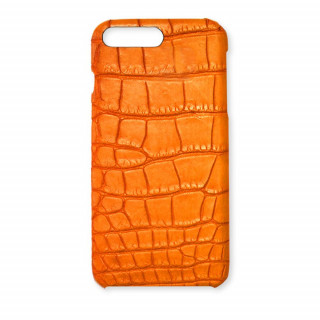 Coque Alligator Véritable iPhone 8 Plus/7 Plus Orange