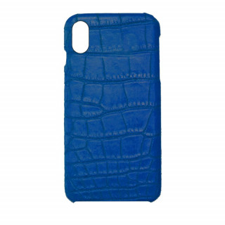 Coque Alligator Véritable iPhone XS/X Bleu Royal
