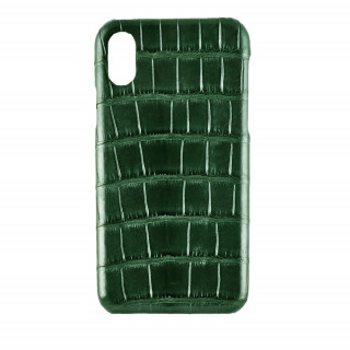 Coque Alligator Véritable iPhone XS/X Vert Brillant