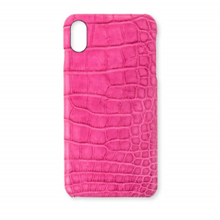 Coque Alligator Véritable iPhone XS/X Rose