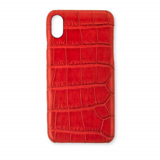 Coque Alligator Véritable iPhone XS/X Rouge