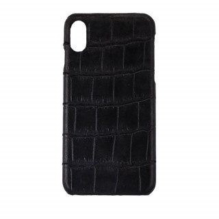 Coque Alligator Véritable iPhone XR Noir Mat