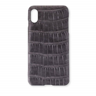 Coque Alligator Véritable iPhone XR Gris