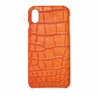 Coque Alligator Véritable iPhone XS Max Orange