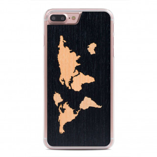Coque Bois iPhone 7 Plus Carved World Map Ebène