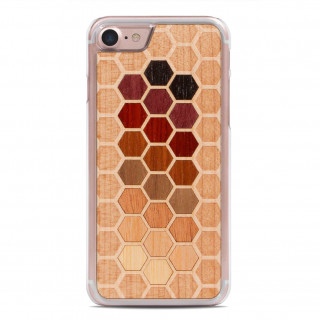 Coque Bois iPhone 6/6s/7 Carved Hexagon
