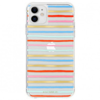 Coque Apple iPhone 11 Case Mate Rifle Paper Happy Stripes