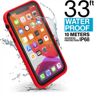 Coque 100% Etanche iPhone 11 Pro Max Catalyst Rouge