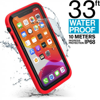 Coque 100% Etanche iPhone 11 Catalyst Rouge