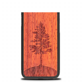 Coque Bois Naturel iPhone XR Arbre Padouk