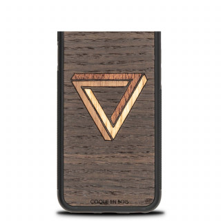 Coque Bois Naturel iPhone XR Triangle