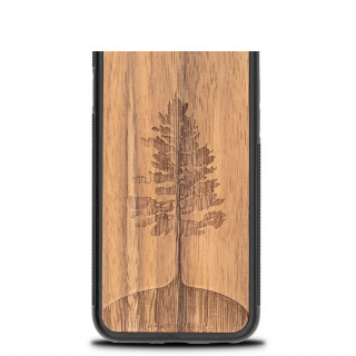 Coque Bois Naturel iPhone XS/X Arbre Noyer