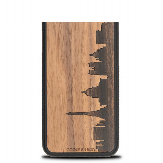 Coque Bois Naturel iPhone XS/X Paris