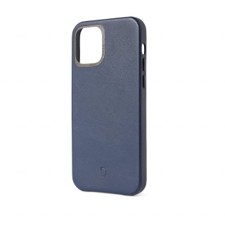 Coque Cuir Apple iPhone 12/12 Pro Decoded Bleu Navy