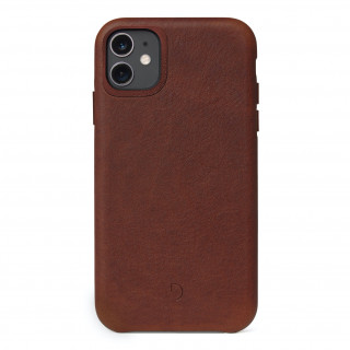 Coque Cuir Apple iPhone 11 Decoded Marron