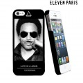 "Coque Apple iPhone 5/5S Eleven Paris ""Lenny Kravitz Moustache"""