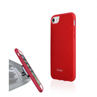 Coque iPhone 6/6s/7/8 Evutec Aergo Ballistic & Support Aimanté Nylon Rouge
